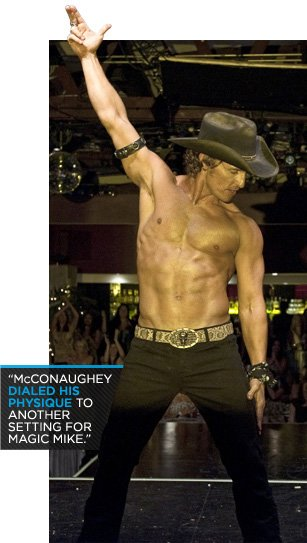 Matthew McConaughey's Magic Mike Abs Workout, Nutrition And Supplement Plan