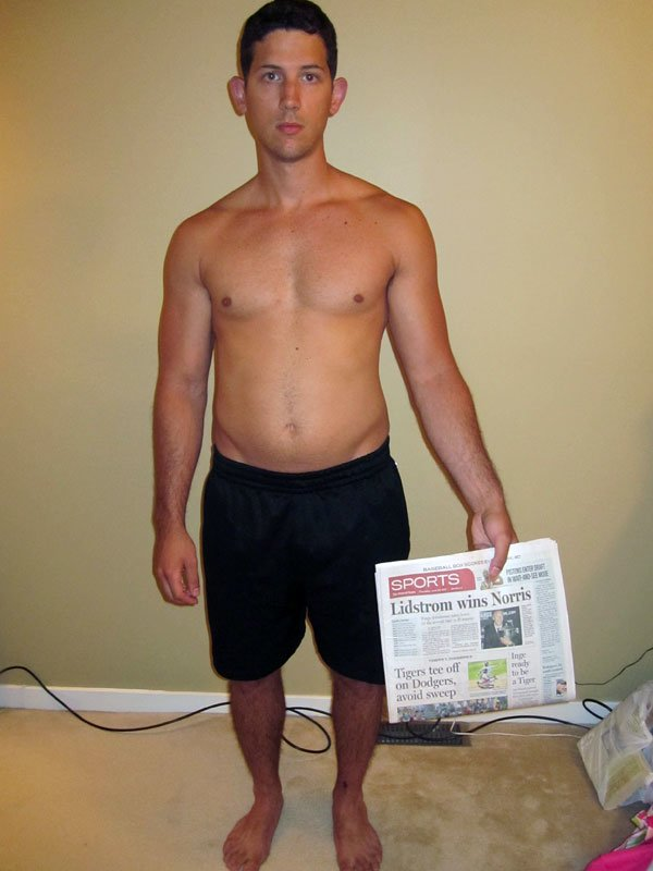body fat percentage before and after