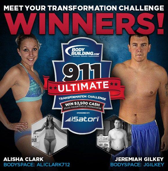 May 2012 Isatori 911 Ultimate Transformation Challenge Winners Alisha Clark & Jeremiah Gilkey!