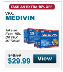 Take an extra 15% Off VPX MEDIVIN!