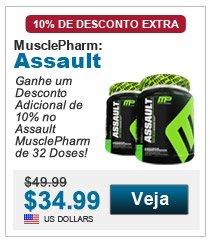 Ganhe um Desconto Adicional de 10% no Assault MusclePharm de 32 Doses!