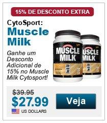 Ganhe um Desconto Adicional de 15% no Muscle Milk Cytosport