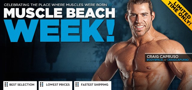 MuscleBeach Week!: 21 Unbeatable Deals Limited Time Only