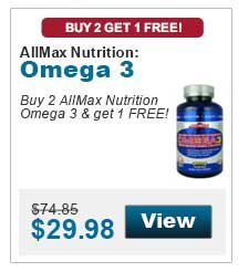 Buy 2 AllMax Nutrition Omega 3 & get 1 FREE!