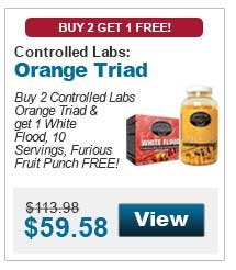 Buy 2 Controlled Labs Orange Triad & get 1 White Flood, 10 Servings, Furious Fruit Punch FREE!