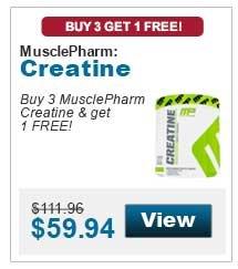 Buy 3 MusclePharm Creatine & get 1 FREE!