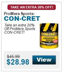 Take an extra 20% Off ProMera Sports CON-CRET!