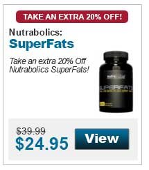 Take an extra 20% Off Nutrabolics SuperFats!