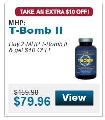 Buy 2 MHP T-Bomb II & get $10 OFF!