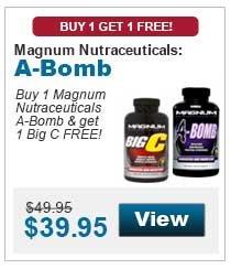 Buy 1 Magnum Nutraceuticals A-Bomb & get 1 Big C FREE!