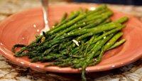 Death by Garlic Roasted Asparagus