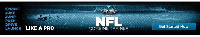 Sprint. Juke. Jump. Push. Drive. Launch. LIKE A PRO. NFL Combine Trainer - Get Started Now!