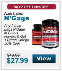 Buy 2 Axis Labs N'Gage in select flavors & get 1 Citrus Omega 50% OFF!