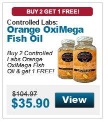 Buy 2 Controlled Labs Orange OxiMega Fish Oil & get 1 FREE!