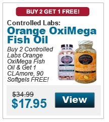 Buy 2 Controlled Labs Orange OxiMega Fish Oil & get 1 CLAmore, 90 Softgels FREE!