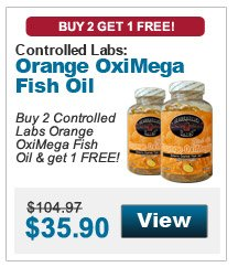 Buy 2 Controlled Labs Orange OxiMega Fish Oil & get 1 FREE!