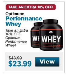 Take an Extra 10% OFF Optimum Performance Whey!