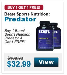 Buy 1 Beast Sports Nutrition Predator & get 1 FREE!