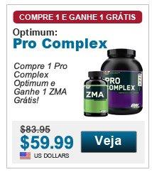 Compre 1 Pro Complex Optimum e Ganhe 1 ZMA Grátis