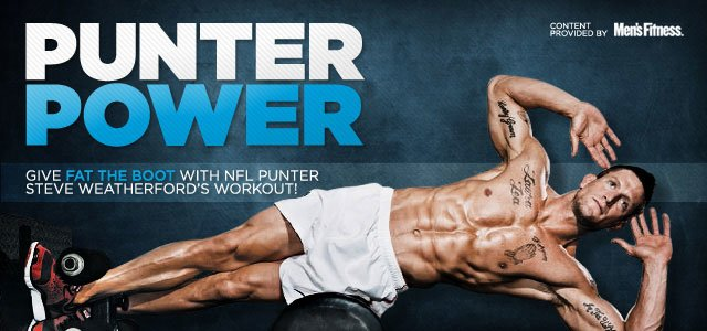 Punter Power: Steve Weatherford's Football Workout