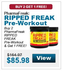 Buy 2 PharmaFreak RIPPED FREAK Pre-Workout & get 1 FREE!