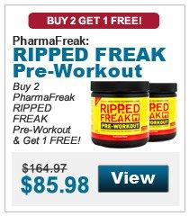 Buy 2 PharmaFreak RIPPED FREAK Pre-Workout & get 1 FREE!