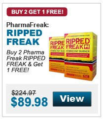 Buy 2 PharmaFreak RIPPED FREAK & Get 1 FREE!