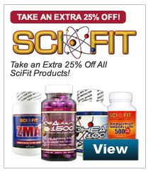 Take an Extra 25% Off All SciFit Products!
