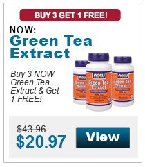Buy 3 NOW Green Tea Extract & get 1 FREE!