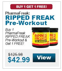 Buy 1 PharmaFreak RIPPED FREAK Pre-Workout & get 1 FREE!