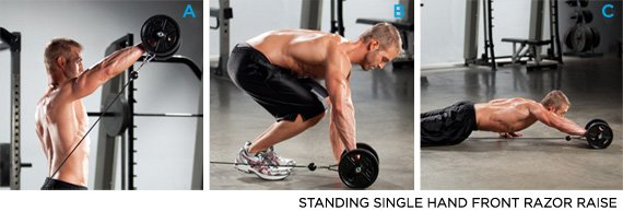For An Advanced Move Skip The Cable Delt Raises Oblique Crunches And Overhead Push Press Instead Do 2 Sets Of 10 12 Reps