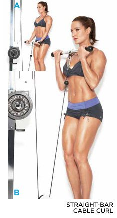 how to use bicep curl bar