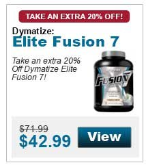 Take an extra 20% Off Dymatize Elite Fusion 7!