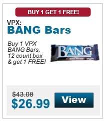Buy 1 VPX BANG Bars,  12 count box & get 1 FREE!