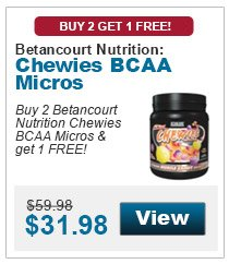 Buy 2 Betancourt Nutrition Chewies BCAA Micros and get 1 free!