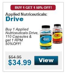 Buy 1 Applied Nutriceuticals Drive, 110 Capsules & get 1 RPM 50%OFF!