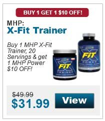 Buy 1 MHP X-Fit Trainer, 20 Servings & get 1 MHP Power $10 OFF!