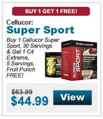 Buy 1 Cellucor Super Sport, 30 Servings & get 1 C4 Extreme, 5 Servings, Fruit Punch FREE!