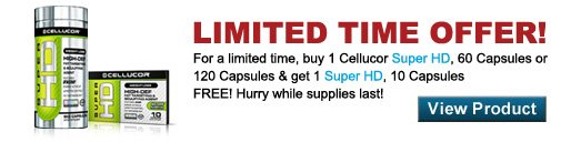 Limited Time Offer: Cellucor Super HD Discount