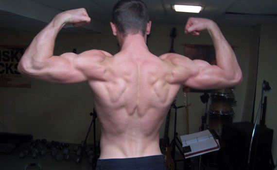 Do his back muscles make a maple leaf? Either way, Jacob is one ripped Canadian!