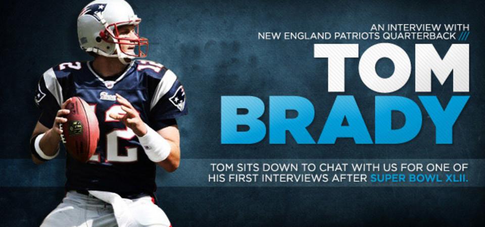 New England Patriots Quarterback Tom Brady Talks With