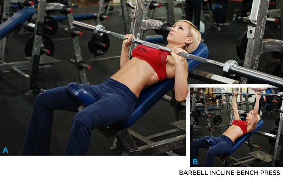 Exercise 9 Barbell Incline Bench Press Rated 8