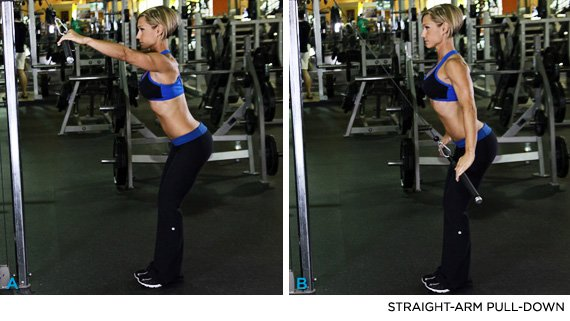 Exercise 7 Straight Arm Pull Down