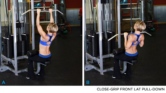 Exercise 5 Close Grip Front Lat Pull Down