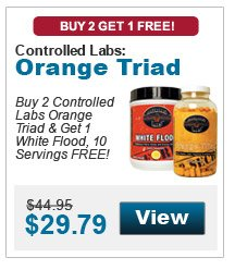 Buy 2 Controlled Labs Orange Triad & Get 1 White Flood FREE!