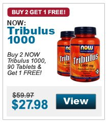 Buy 2 NOW Tribulus 1000, 90 Tablets & Get 1 FREE!