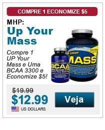 Compre 1 UP Your Mass e Uma BCAA 3300 e Economize $5