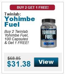 TwinLab Yohimbe Fuel Buy 2 Get 1