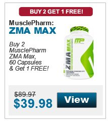 Muscle Pharm	ZMA	Buy 2 Get 1