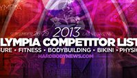 2013 Olympia Competitor Lists